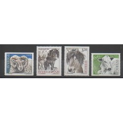 Sweden - 1994 - Nb 1786/1789 - Mamals - Horses