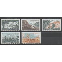 Suède - 1985 - No 1346/1350 - Littérature