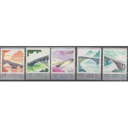 Stamps - Theme bridges - China - 1978 - Nb 2196/2200