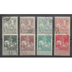Belgique - 1910 - No 84/91 - Oblitéré