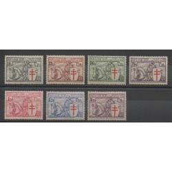 Belgique - 1934 - No 394/400 - Neuf avec charnière