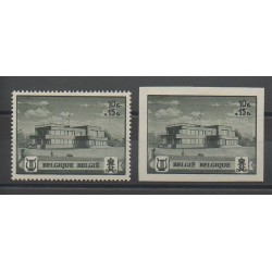 Belgique - 1941 - No 537A/537B - Monuments