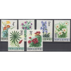 Stamps - Theme flowers - China - 1982 - Nb 2511/2516