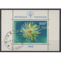 Rwanda - 1966 - Nb BF 6 - Flowers - Used