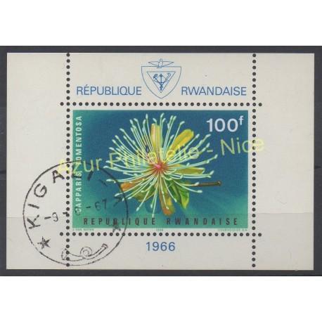 Rwanda - 1966 - No BF 6 - Fleurs - Oblitéré