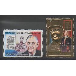 Centrafricaine (République) - 1990 - No PA402 - PA404 - De Gaulle