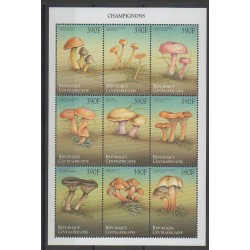 Central African Republic - 1999 - Nb 1618K/1618T - Mushrooms