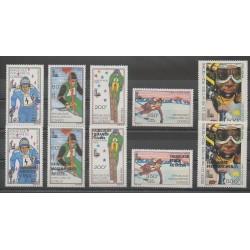 Congo (République du) - 1979 - No PA259/PA268 - Jeux olympiques d'hiver