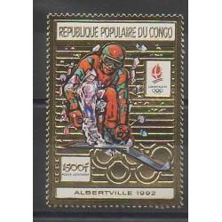Congo (République du) - 1990 - No PA402 - Jeux olympiques d'hiver