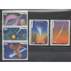 Congo (République du) - 1986 - No PA343/PA347 - Astronomie