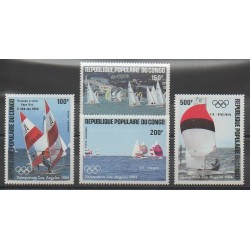 Congo (Republic of) - 1984 - Nb PA325/PA328 - Boats - Summer Olympics