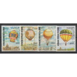 Congo (Republic of) - 1983 - Nb PA308/PA311 - Hot-air balloons - Airships