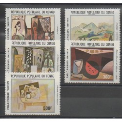 Congo (République du) - 1981 - No PA292/PA296 - Peinture