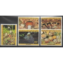 Congo (Republic of) - 1985 - Nb 764/768 - Mushrooms