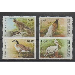 Burkina Faso - 1996 - No 975/978 - Espèces menacées - WWF - Oiseaux