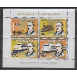 Congo (République démocratique du) - 2006 - No 1717/1720 - Trains - Célébrités