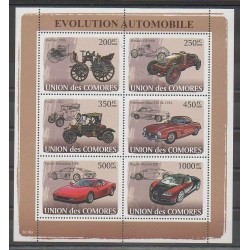 Comoros - 2008 - Nb 1249/1254 - Cars