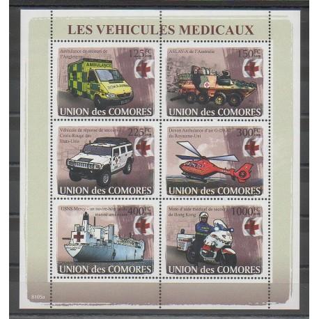 Comores - 2008 - No 1219/1224 - Voitures - Santé ou Croix-Rouge