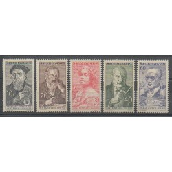 Tchécoslovaquie - 1960 - No 1099/1103 - Musique - Célébrités