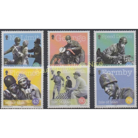 Stamps - Theme motorcycles - Man (Isle of) - 2004 - Nb 1161/1166