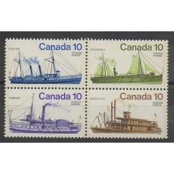Canada - 1976 - Nb 618/621 - Boats