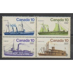 Canada - 1976 - No 618/621 - Bateaux