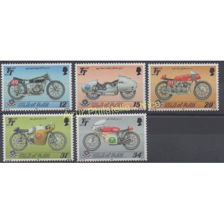 Man (Ile de) - 1987 - No 334/338 - Motos