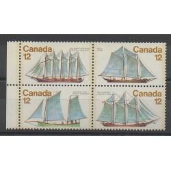 Canada - 1977 - Nb 650/653 - Boats