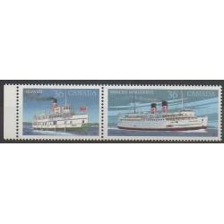 Canada - 1987 - No 1013/1014 - Bateaux