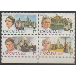 Canada - 1981 - No 758/761 - Célébrités