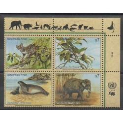 United Nations (UN - Vienna) - 1994 - Nb 182/185 - Endangered species - WWF