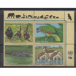 Nations Unies (ONU - New-York) - 1994 - No 651/654 - Espèces menacées - WWF