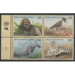 Nations Unies (ONU - Genève) - 1993 - No 243/246 - Espèces menacées - WWF