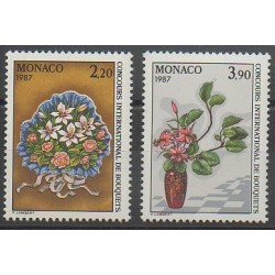 Monaco - 1986 - Nb 1551/1552 - Roses - Flowers