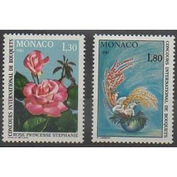 Monaco - 1980 - No 1251/1252 - Roses - Fleurs