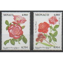 Monaco - 1999 - Nb 2194/2195 - Roses - Orchids