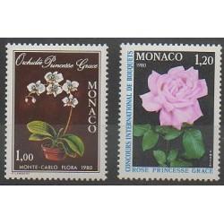 Monaco - 1979 - No 1199/1200 - Roses - Orchidées