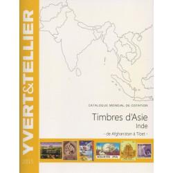 Timbres d'Asie - Inde de Afghanistan à Tibet (Edition 2015)