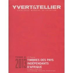 Timbres des pays indépendants d'Afrique de Algérie à Haute-Volta (Edition 2013)