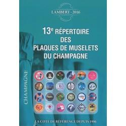 Répertoire des plaques de muselets de Champagne (Lambert 2016)