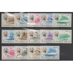 Ajman - 1967 - Nb 74 (9 val) PA 74 (4 val) - Transport Network