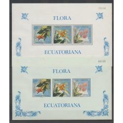 Équateur - 1972 - No BF22 dentelés et non dentelés - Fleurs