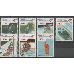 Congo (République du) - 1989 - No 860/866 - Jeux olympiques d'hiver