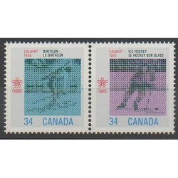 Canada - 1986 - Nb 971/972 - Winter Olympics