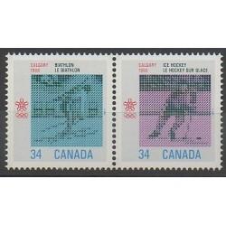 Canada - 1986 - No 971/972 - Jeux olympiques d'hiver