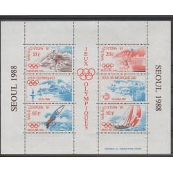 Wallis et Futuna - Blocs et feuillets - 1988 - No BF3 - Sports divers - Jeux Olympiques d'été