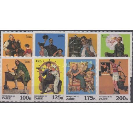 Zaïre - 1981 - No 1029/1036 - Art