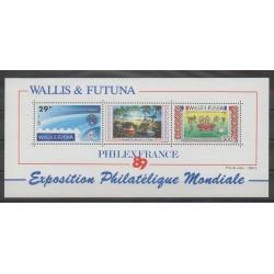 Wallis and Futuna - Blocks and sheets - 1989 - Nb BF4 - Exhibition