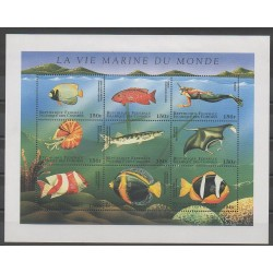 Comoros - 1998 - Nb 689/697 - Sea animals