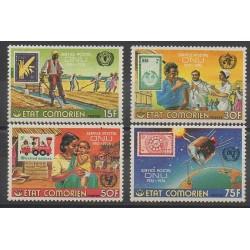 Comores - 1976 - No 158/161 - Timbres sur timbres